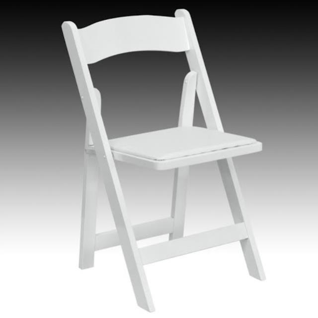 Where to find Resin White Padded Chair in San Diego